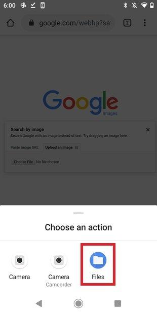 Seleccionar imagen desde el almacenamiento