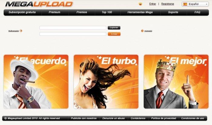 Servicios de almacenamiento on-line gratuito Megaupload