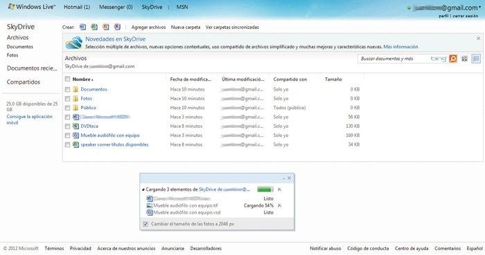 Servicios de almacenamiento on-line gratuito opina