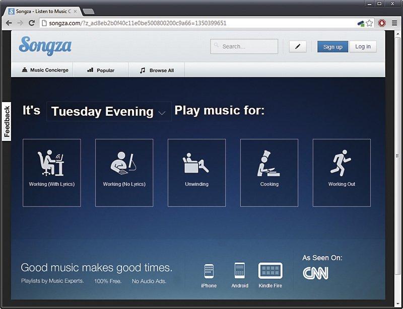 Servicios de música on-line 1