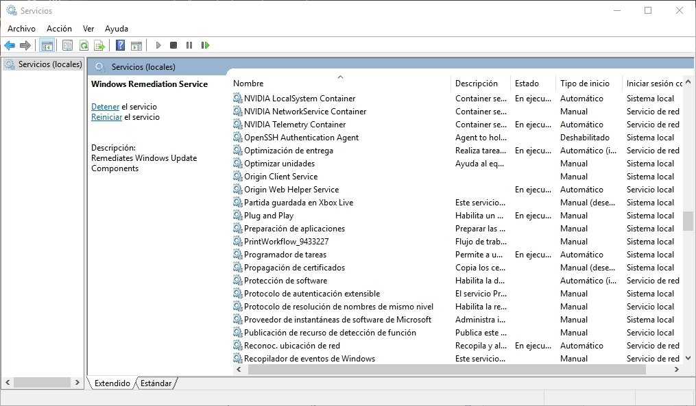 Servicios de Windows