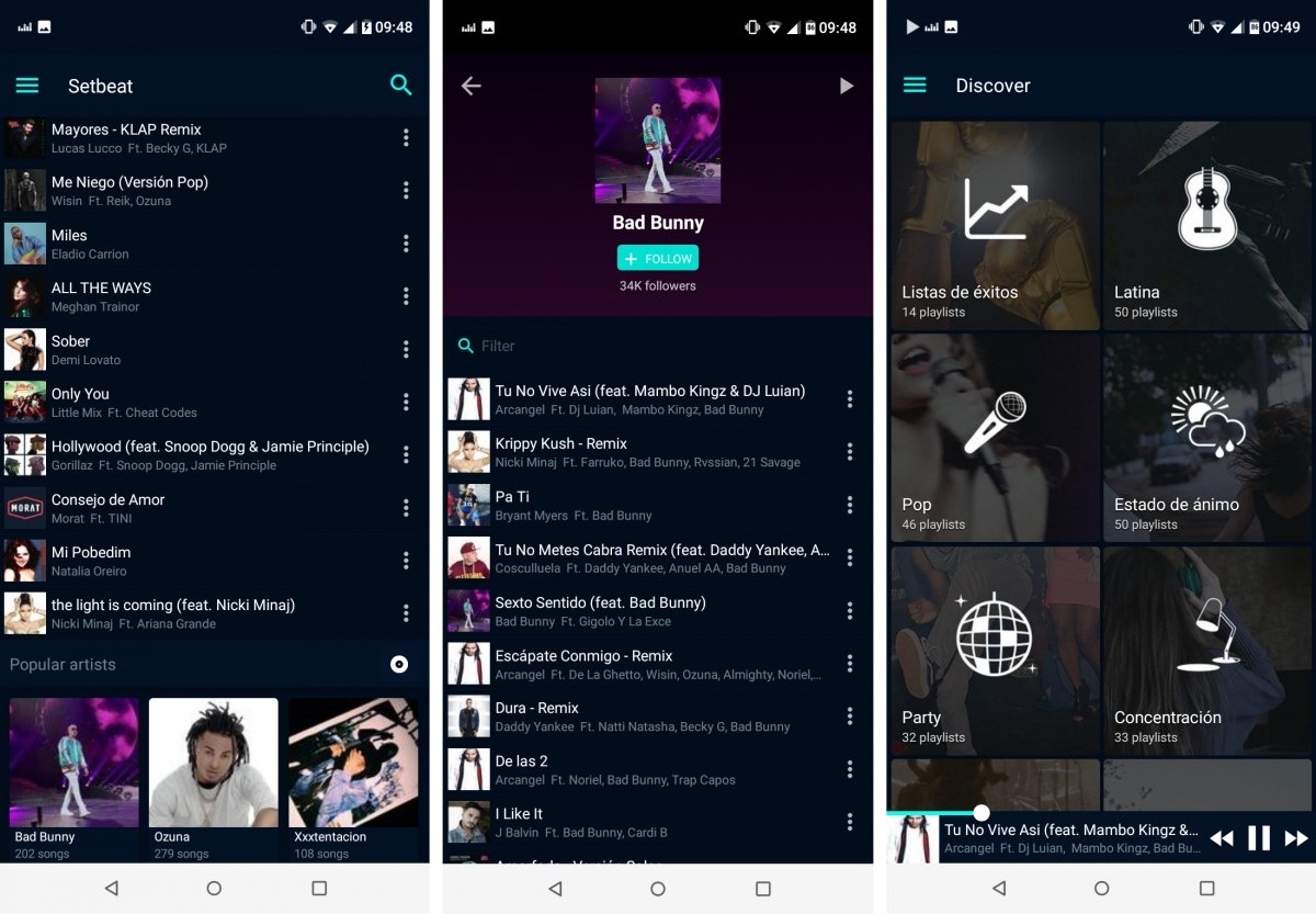 Setbeat, alternativa gratis a Spotify
