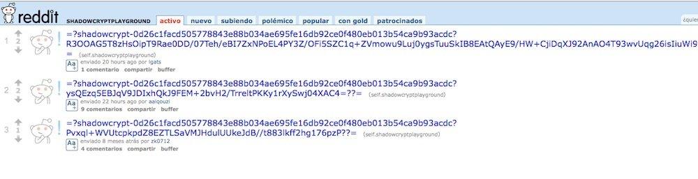 ShadowCrypt encripta tuits, e-mails y estados de Facebook - imagen 2