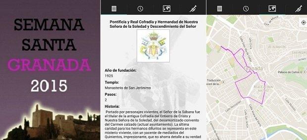 Sigue las rutas de las procesiones de Granada con S. Santa Granada 2015