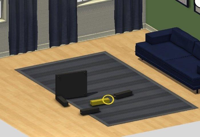 Simulación de montaje de mueble de IKEA