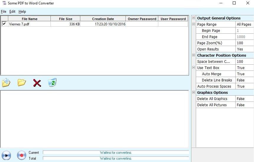Some PDF to Word te permite convertir PDFs aunque su diseño no sea rompedor