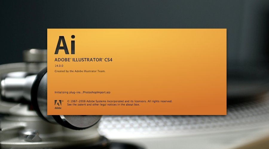 Splash screen de Adobe lllustrator CS4