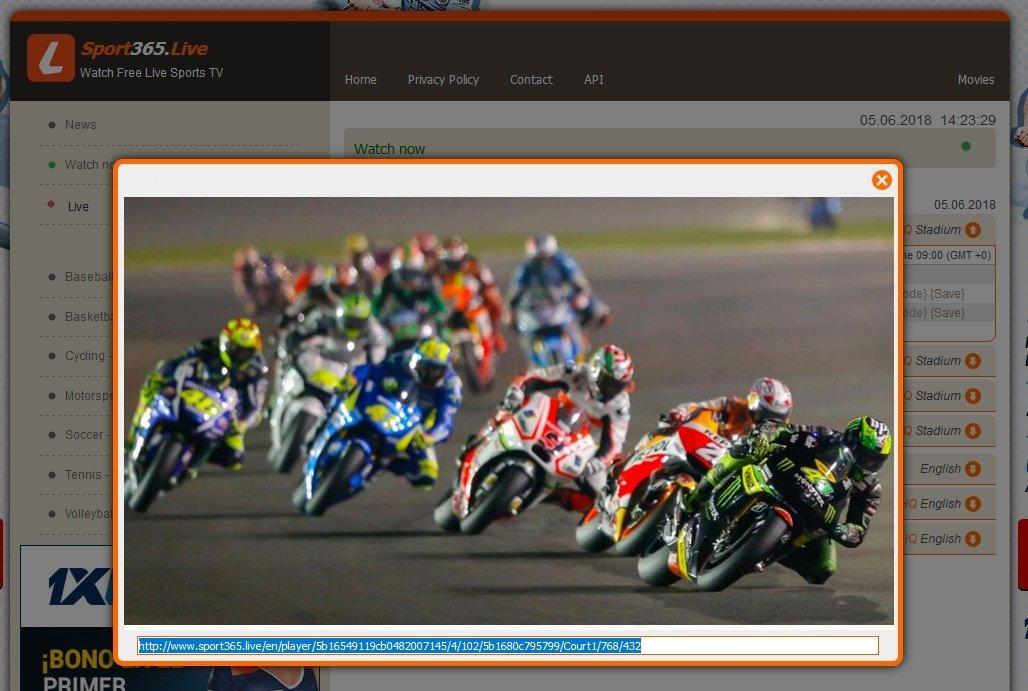 Sport365 durante una carrera de MotoGP