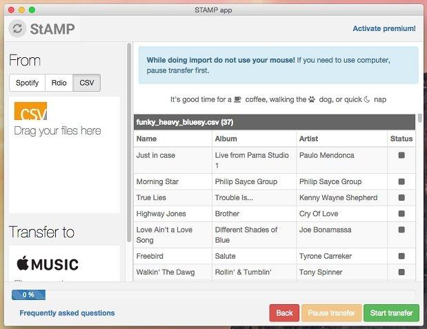 STAMP automatiza el proceso de importar listas de reproducción en Apple Music