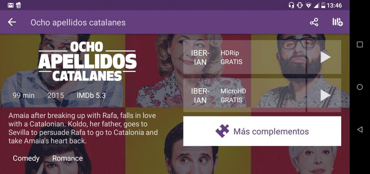 Stremio ofrece contenido en español y subtítulos