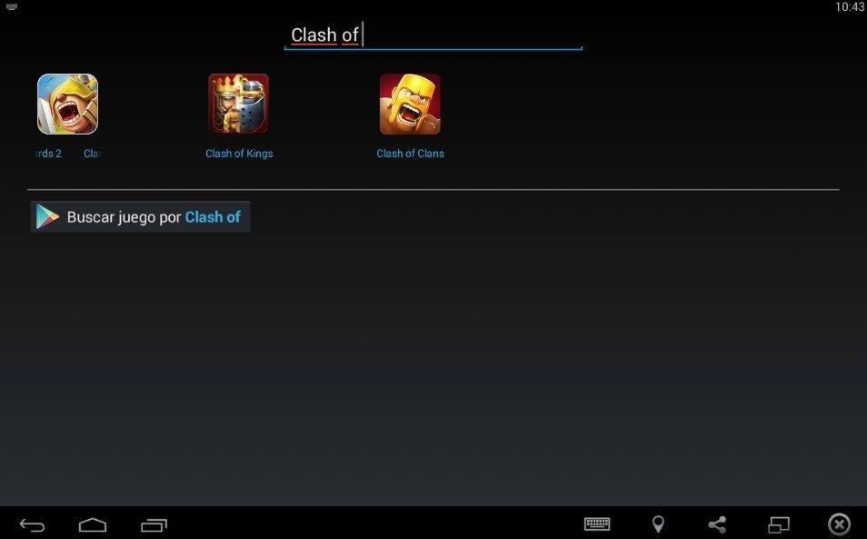 Su buscador manual te permitirá encontrar Clash of Clans u otras aplicaciones