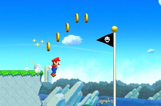 Super Mario saltando durante el juego
