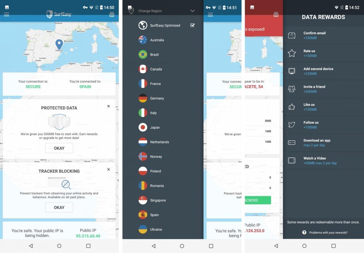 SurfEasy VPN para Android