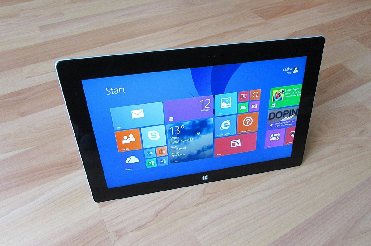 Tablet Surface ejecutando Windows 8