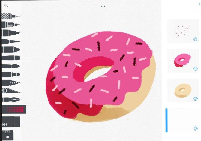 Tayasui Sketches ofrece una interfaz simple pero con muchas opciones