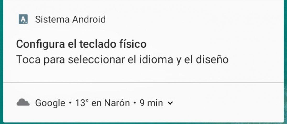 Teclado físico conectado a Android