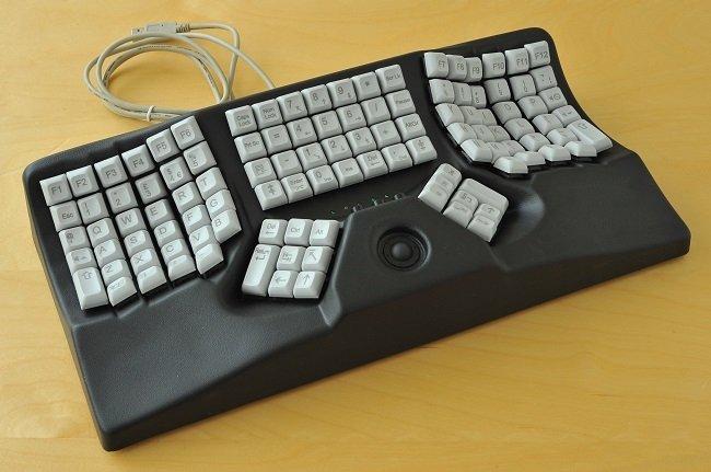 Teclado Maltron 3D a dos manos en negro
