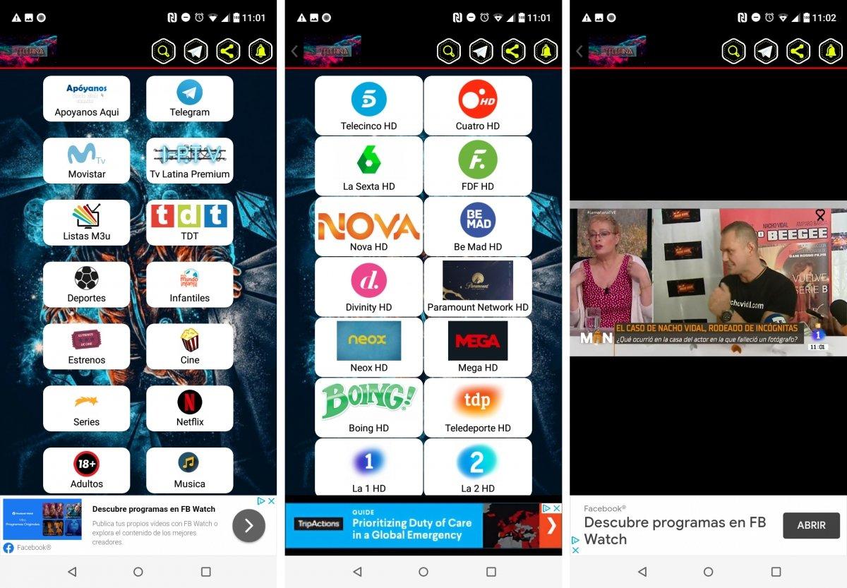 Telefina ofrece TV, deportes, películas o series