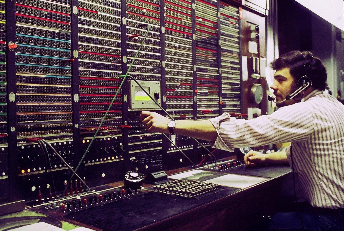 Teleoperador de Bell Systems en los '60