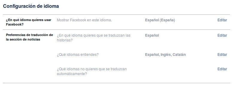 Tendemos que cambiar el idioma de Facebook para poder usar PictureMate
