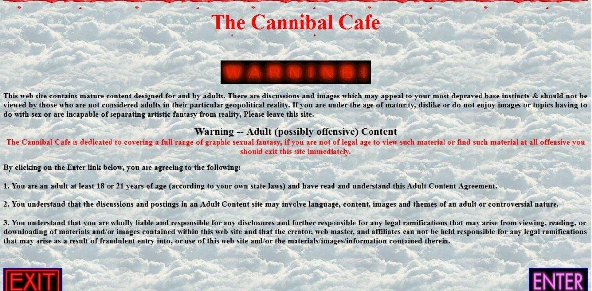 The Cannibal Cafe Forum, una comida de muerte