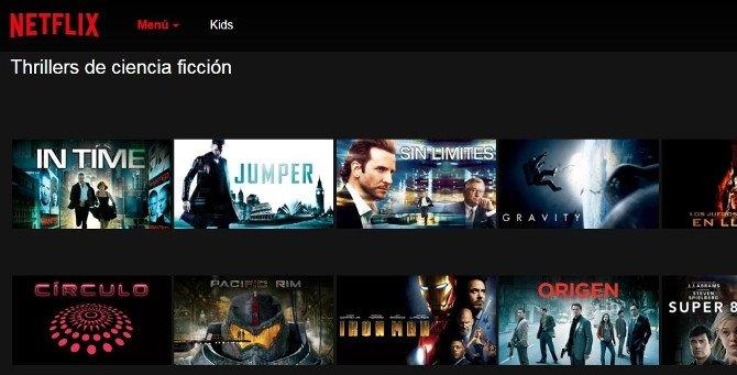Thrillers de ciencia ficción en Netflix