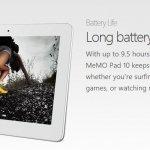 ASUS presenta MeMO Pad 10, su tablet insignia en la clase media