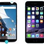 Comparativa Nexus 6 vs iPhone 6