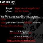 El grupo ciberactivista Anonymous ataca a los enemigos de WikiLeaks