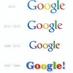 Los cuatro logos que ha tenido Google
