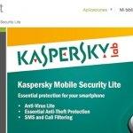 Nueva versión gratuita de Kaspersky Mobile Security Lite