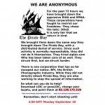 Masiva ciberprotesta contra el intento de cierre de las webs de intercambio libre de ficheros