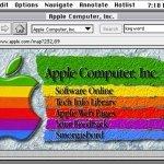 Así era una de las primeras páginas web de Apple