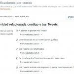 Limita las notificaciones de correo de Twitter