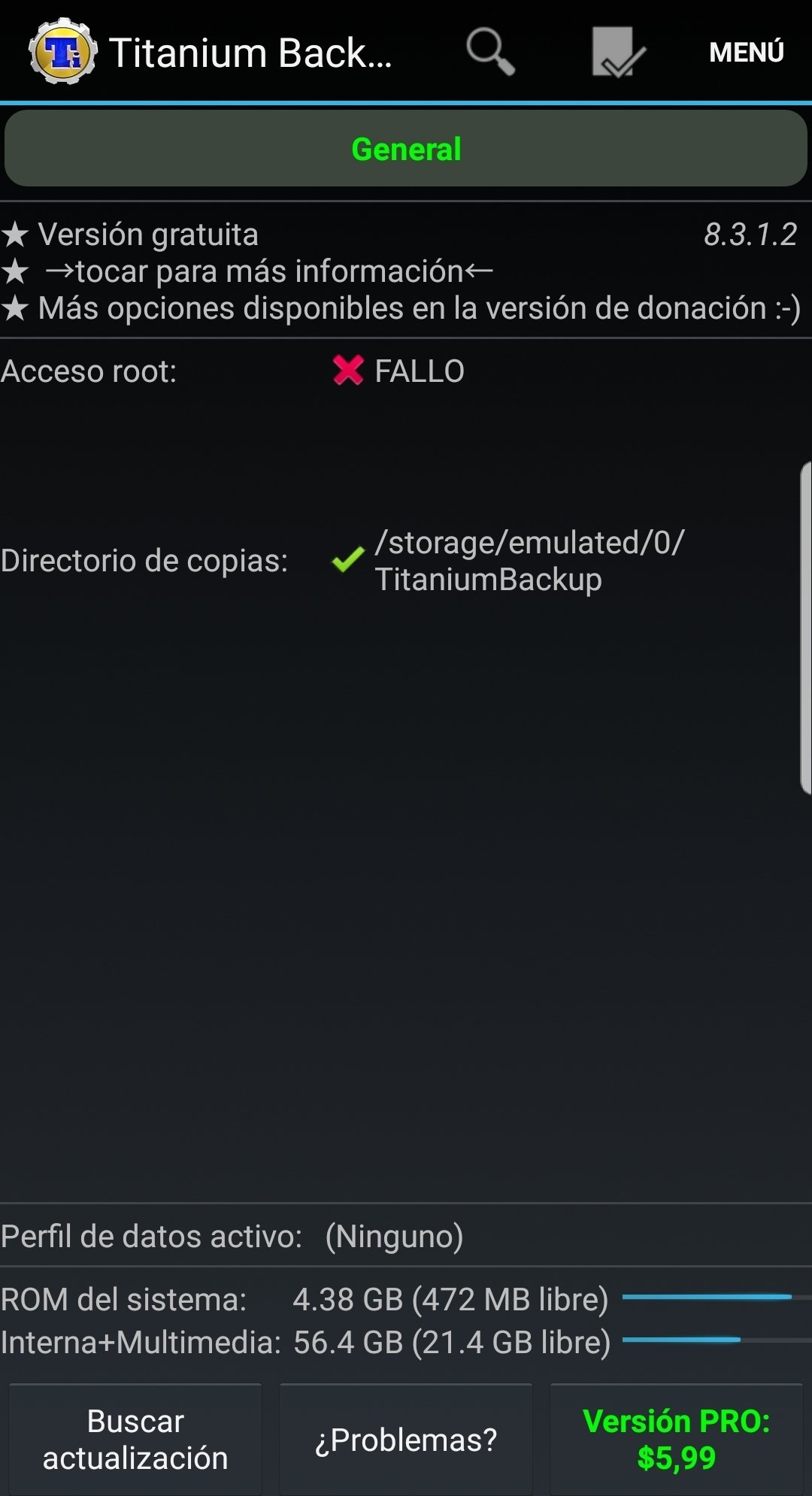 Titanium Backup en Android