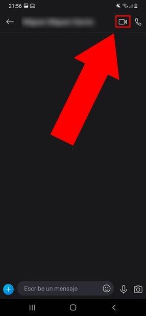 Toca sobre el icono con forma de videocámara