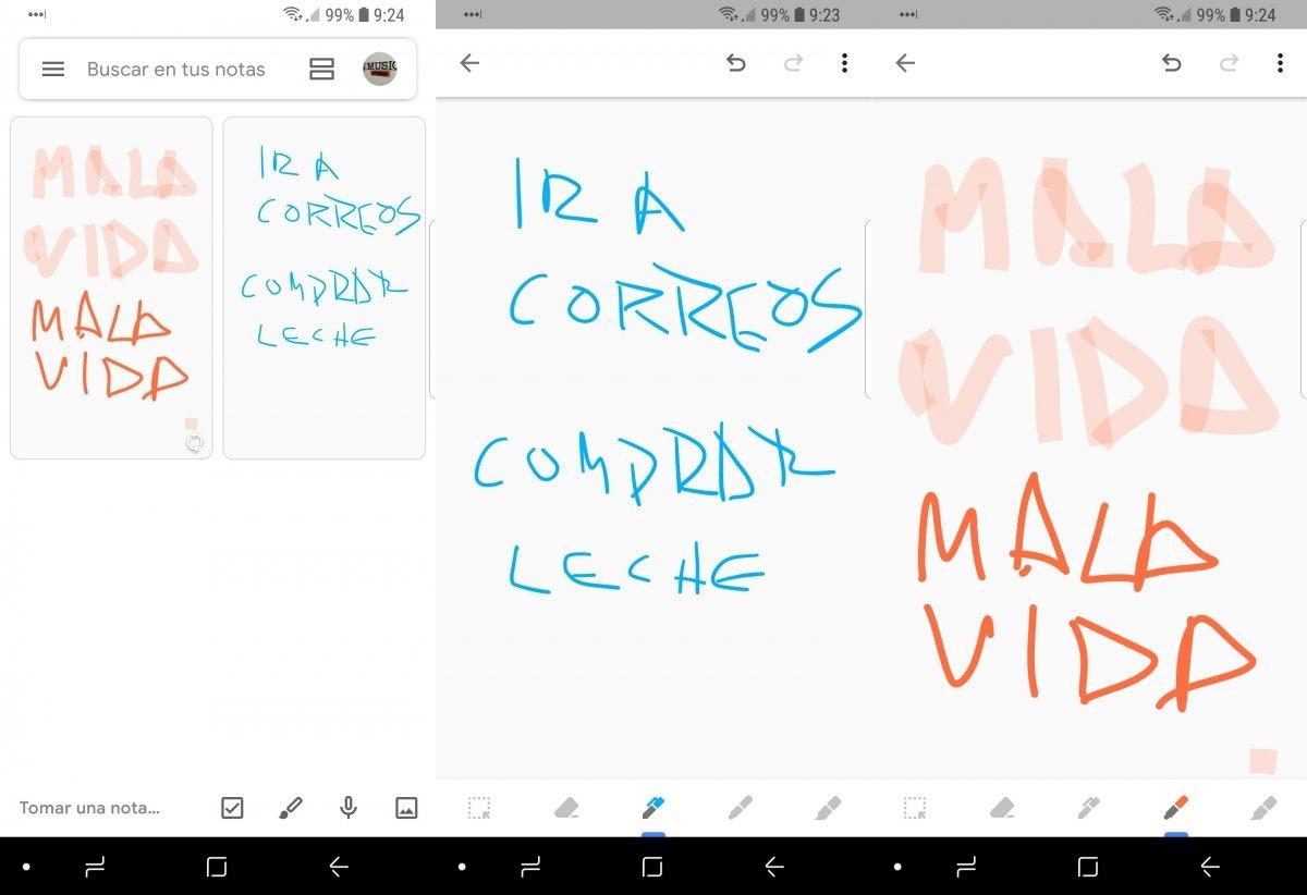 Tomando notas a mano con Google Keep