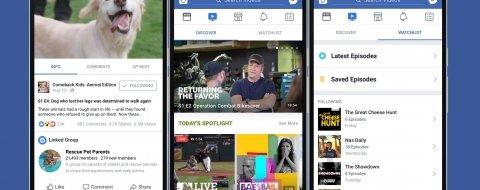 Facebook lanza Watch, su plataforma de vídeo para competir con YouTube