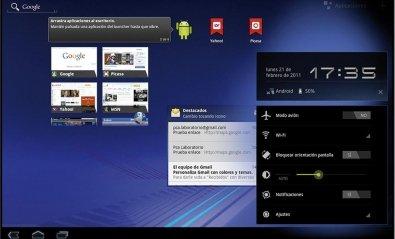 Android 3 Honeycomb llega a los primeros tablets