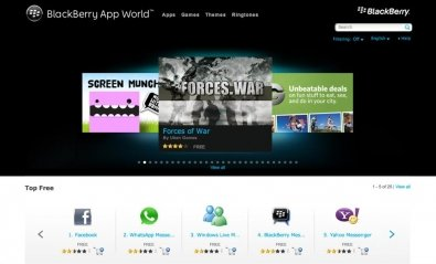 BlackBerry App World supera los 3.000 millones de descargas