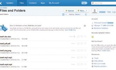 Box, servicio de almacenamiento on-line bien implementado