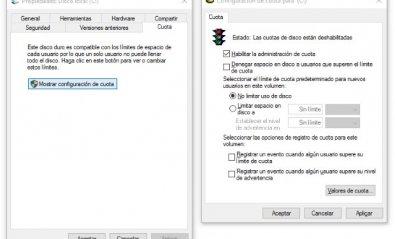Reparte el espacio disponible en el disco con cuotas por usuario