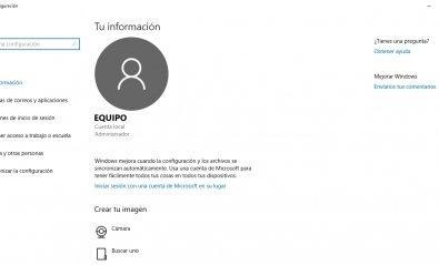 Cómo crear una cuenta local en Windows 10