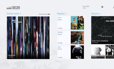 Deezer publica su app de streaming nativa para Windows 8