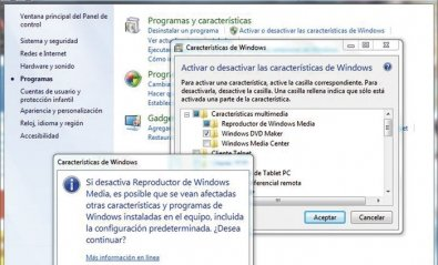 Cómo desinstalar Windows Media Player de Windows 7