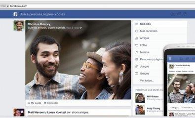 Facebook rediseña las actualizaciones con fotos más grandes