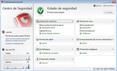 G Data InternetSecurity 2012, precio inmejorable