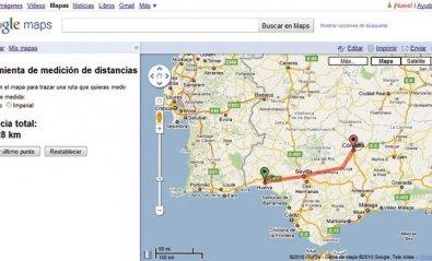 Mide distancias entre varios lugares con Google Maps