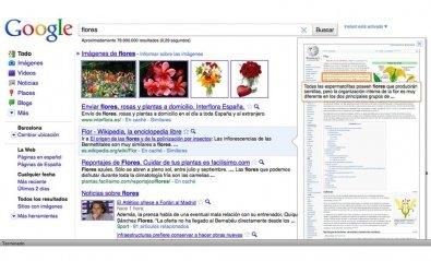 Google ofrece una vista previa de los resultados de las búsquedas