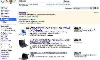 Google Shopping permite buscar y comparar productos